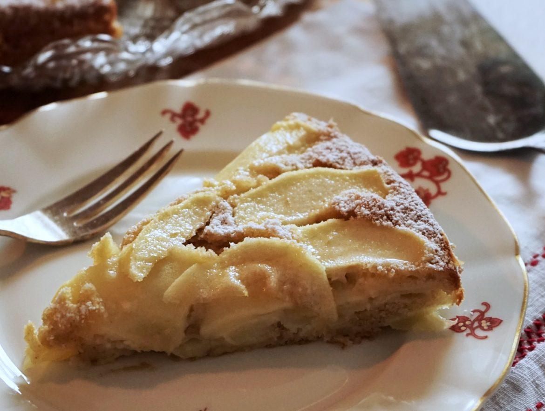schnelle apfeltarte, tarte mit äpfeln, kuchen, äpfel