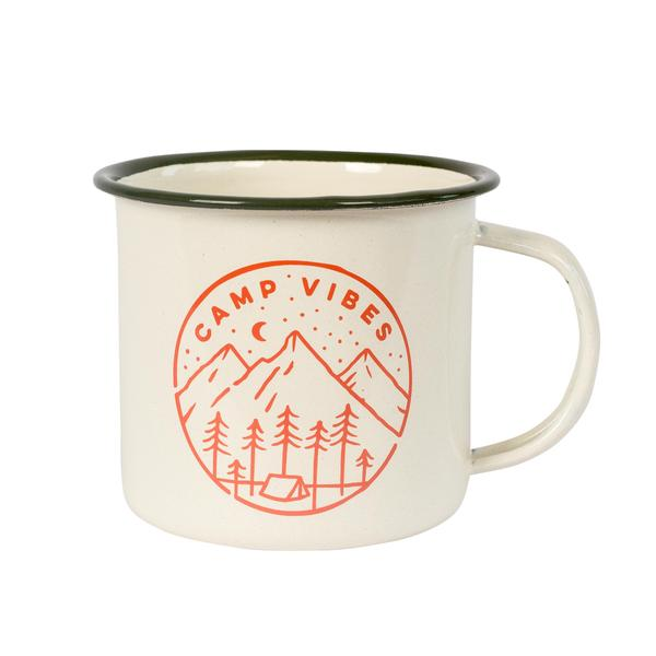 poler stuff emaille becher camp vibes mug