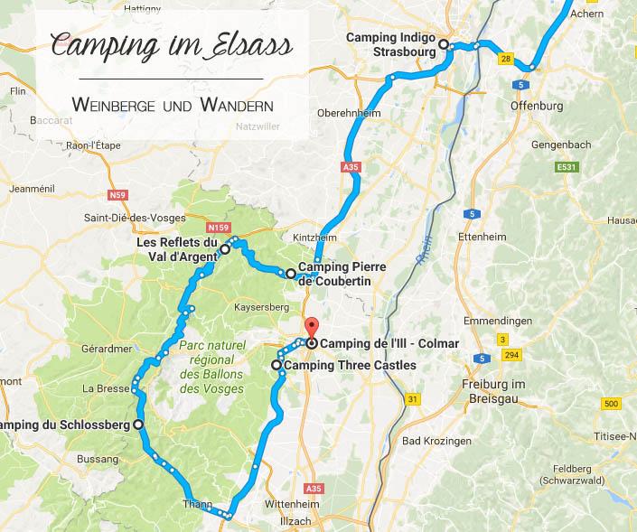 Campingroute Weinstraße Elsass