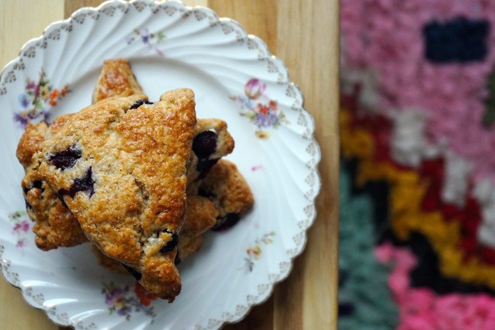 blueberry scones, boucheroite