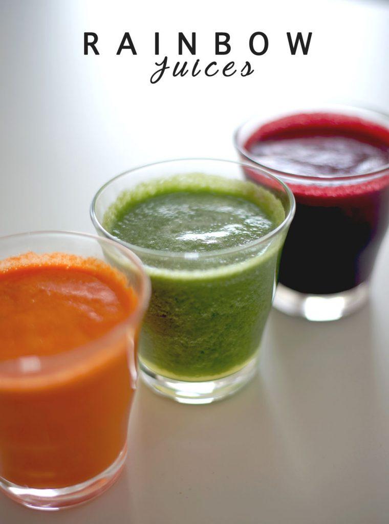 frisch gepresste säfte, rainbow juices, gemüsesaft