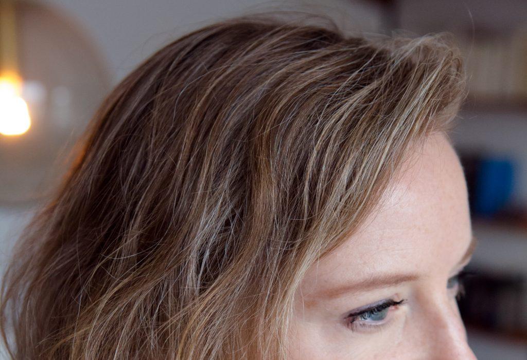 naturwelle, graue haare, feine haare