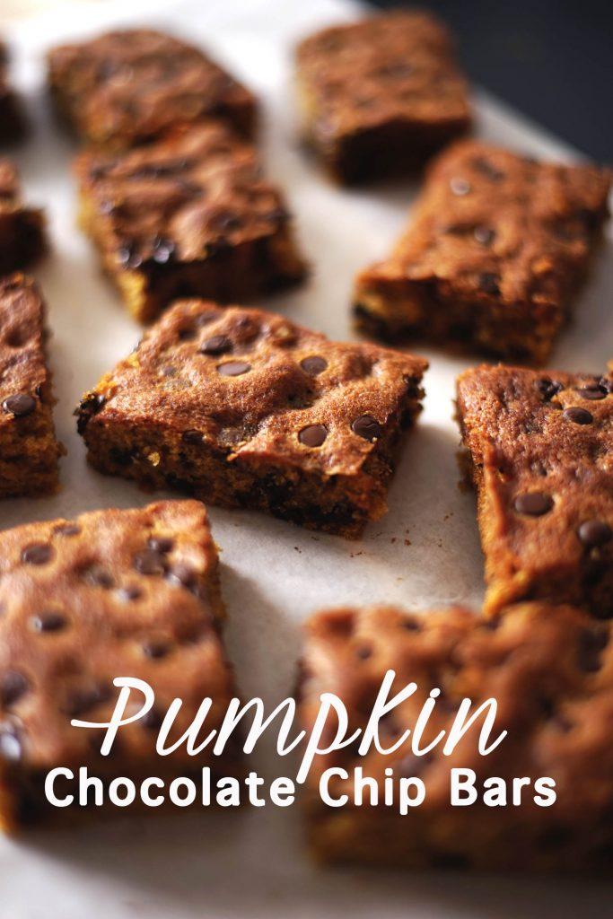 pumpkin Chocolate Chip Bar, Kürbis Gewürzkuchen
