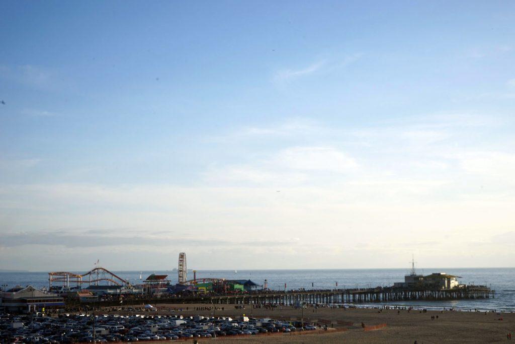 santa monica beach, santa monica pier